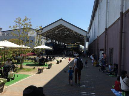 ピクニックできる広場